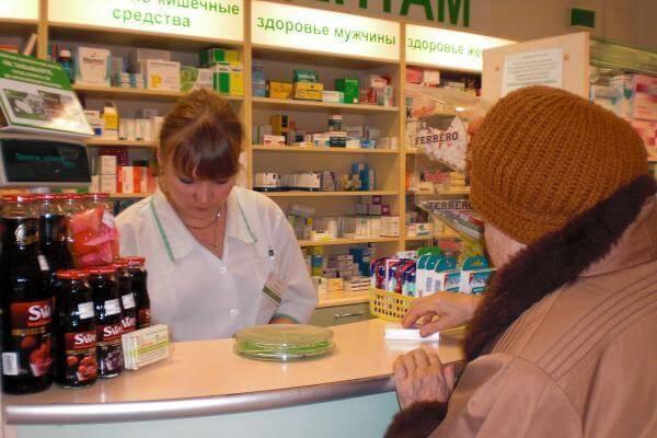 Продажа средства по уходу за полостью рта в аптеке