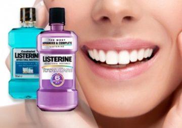 Полезные компоненты популярных видов ополаскивателей для полости рта Листерин
