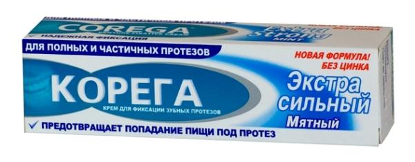 Корега крем для фиксации зубных протезов купить