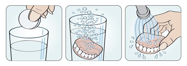 Таблетки для очищения зубных протезов корега