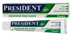 Зубная паста президент классик отзывы стоматологов