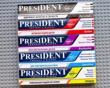 Лечебные свойства зубной пасты Президент