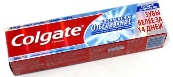 Реклама зубной пасты Колгейт