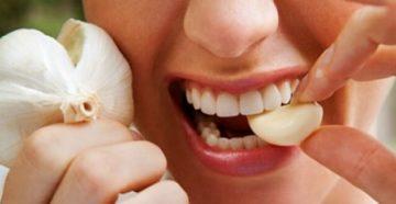 Помогает ли чеснок от зубной боли
